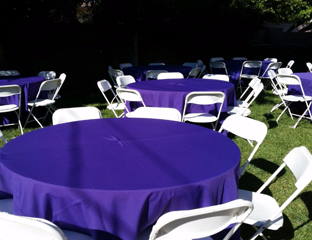 Sanders Jumpers - table and chairs setup